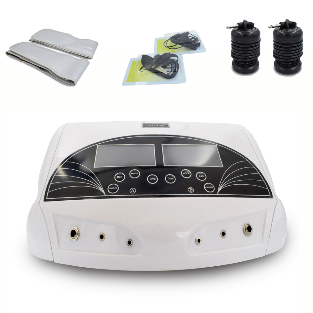 3 in 1 Ionic Detox foot bath Sub-health ionic cleanse SPA machine+infrared ray belt with two person ionic detox through feet foot massager dual ion cleanse cell spa machine foot bath ion detox cleansing two people use