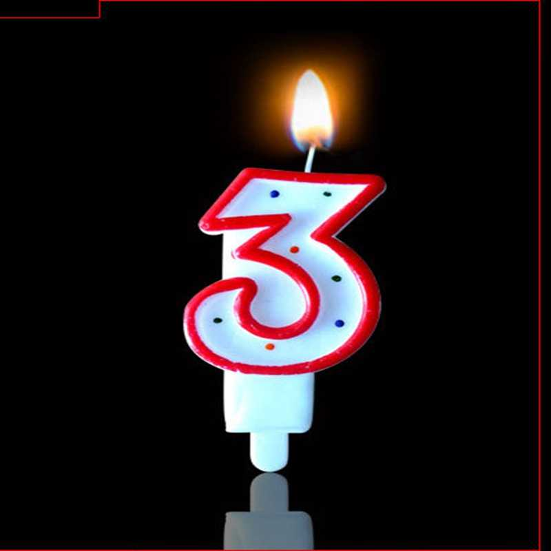 Dot Birthday Number Candle 1 2 3 4 5 6 7 8 9 0 Kids Adult