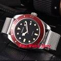 Parnis 43 мм 10ATM MIYOTA Jewels 21 автоматические мужские часы водонепроницаемые с черным циферблатом светящиеся оранжевые отметки сапфировое стекло 591