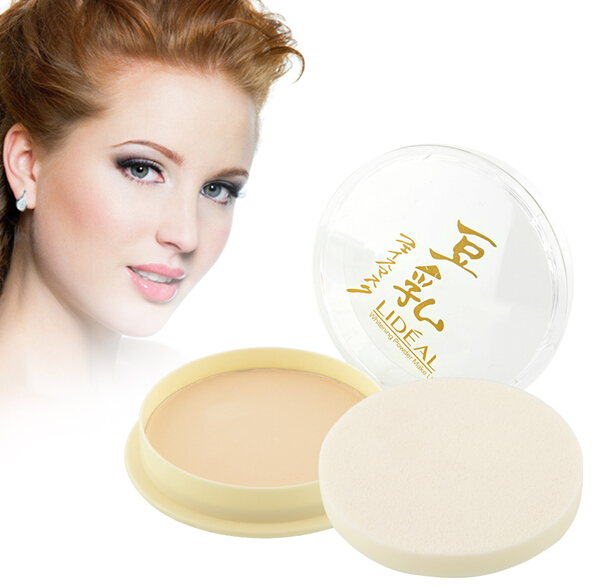 Pressed Powder Smooth Oil Control 3 Colors Whitening Loose Powder For White to Tan Skin font
