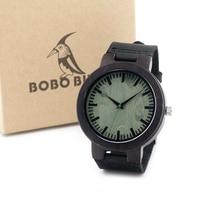Bobo bird c25 yıldönümü baskı ahşap saatler için lüks marka tasarımcısı gerçek deri kuvars İzle erkekler için sıcak satış relogio