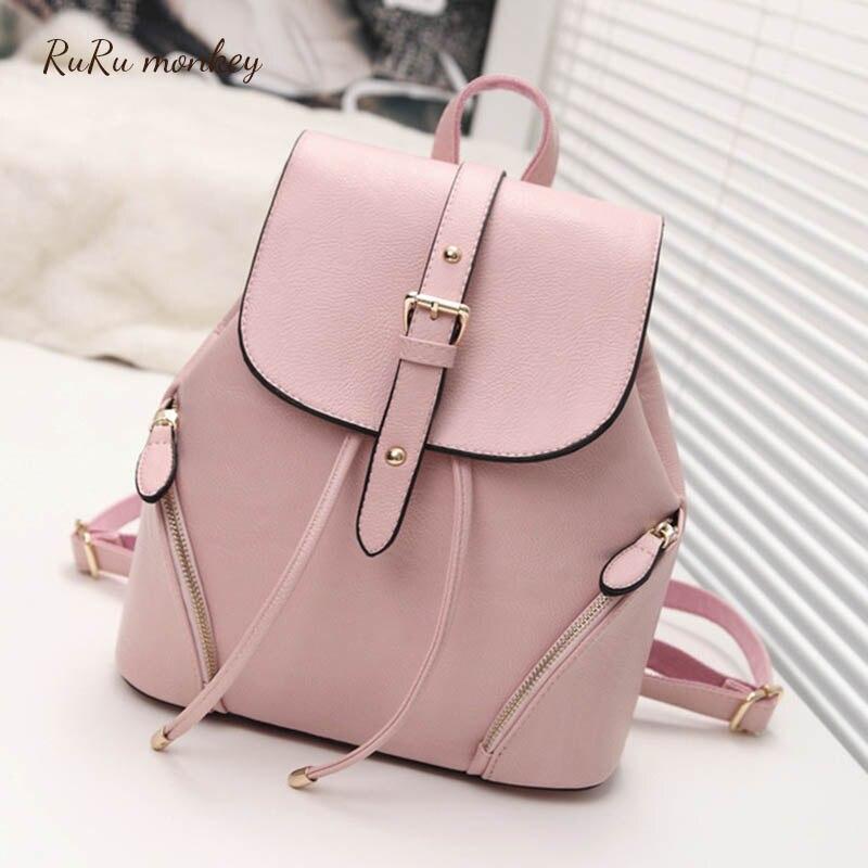 Femmes sac à dos petits sacs de sortie rose noir sacs pour filles grande capacité sac à bandoulière voyage sac à dos Mochilas Escolares