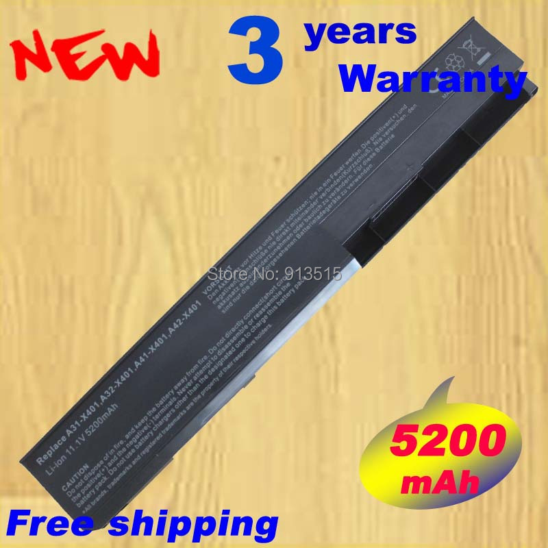 AGPtek 6 Cell Laptop Battery for ASUS F301 F501 F401 F401a X501 A32x401 A42x401