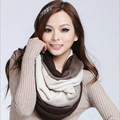 Winter Snood Scrarf For Women Foulard Ring Warm Cashmere Bandana Brand Pashmina Magic Scarves MF74859