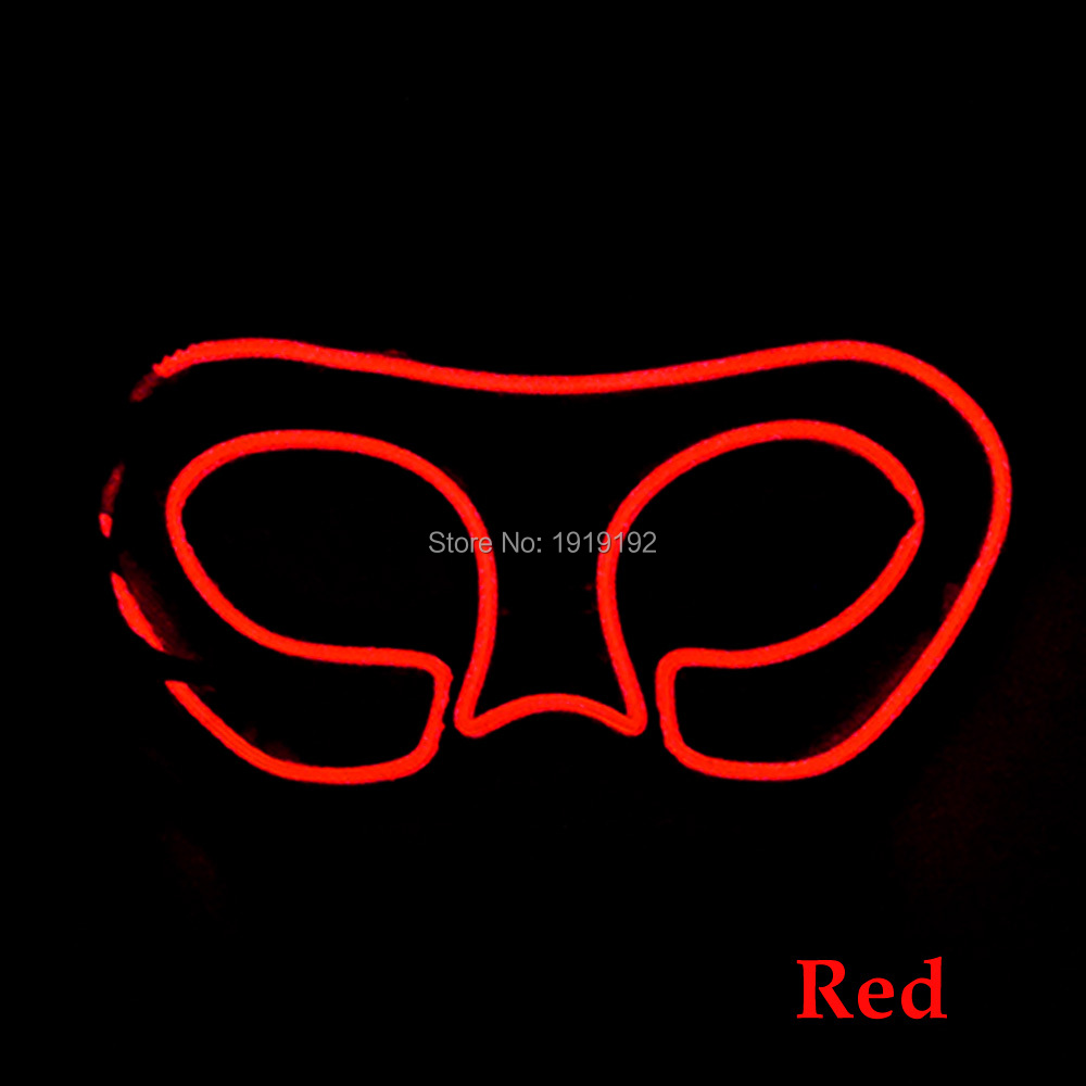 High quality Popular halloween mask Fox face mask 10 Color Choice LED EL Mask For Bar Fluorescent Dance Christmas decoration