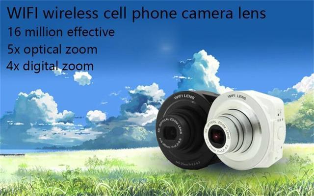 Mini 16 millones de píxeles zoom óptico de 4x zoom digital de 1/2.3 pulgadas sensor CMOS lente de la cámara de WIFI Del Teléfono de Conexión externa
