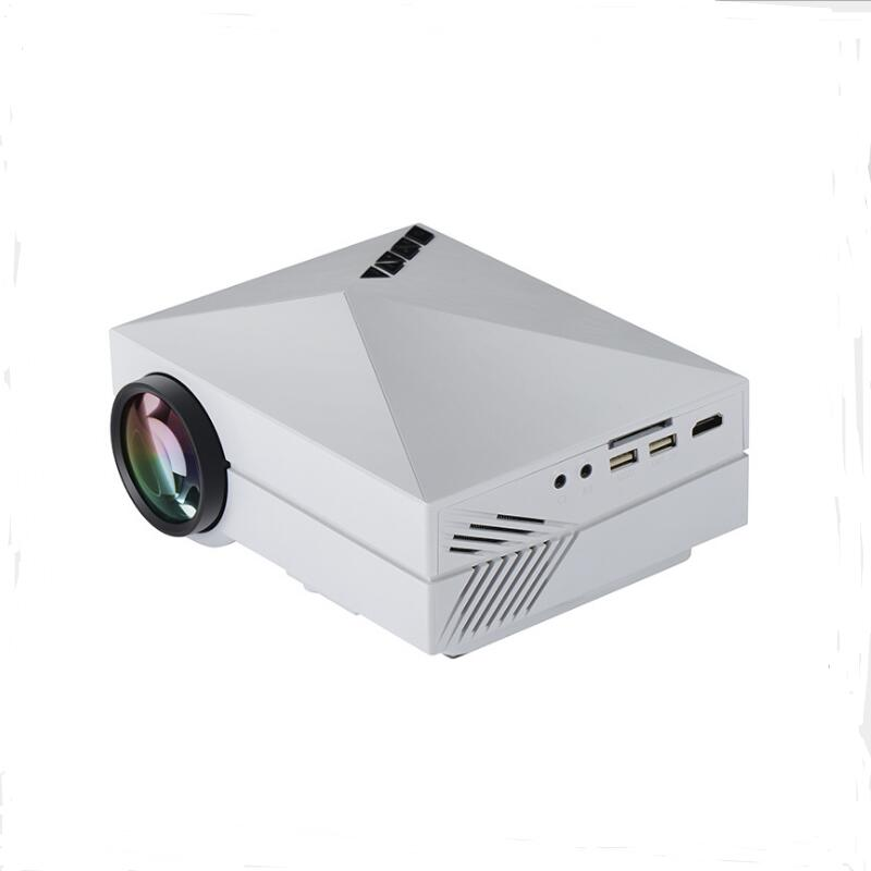 OTHA GM60 Mini LED Projector 1000 Lumens HD Video Games TV Home Theater Movie Support HDMI VGA AV SD Portable Projector WHITE