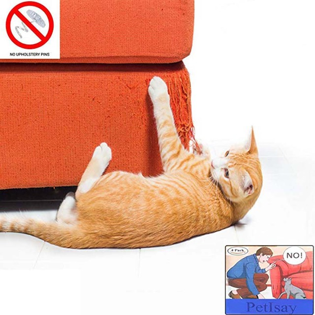 Couch Guard Cat Claw Protector Pinless Self Adhesie Protect Pads Scratching Furniture For Upholstery Leather Chairs Recliner