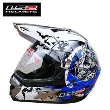 LS2 MX437 off-road motorcycle helmet with windproof shield ATV dirt bike enduro