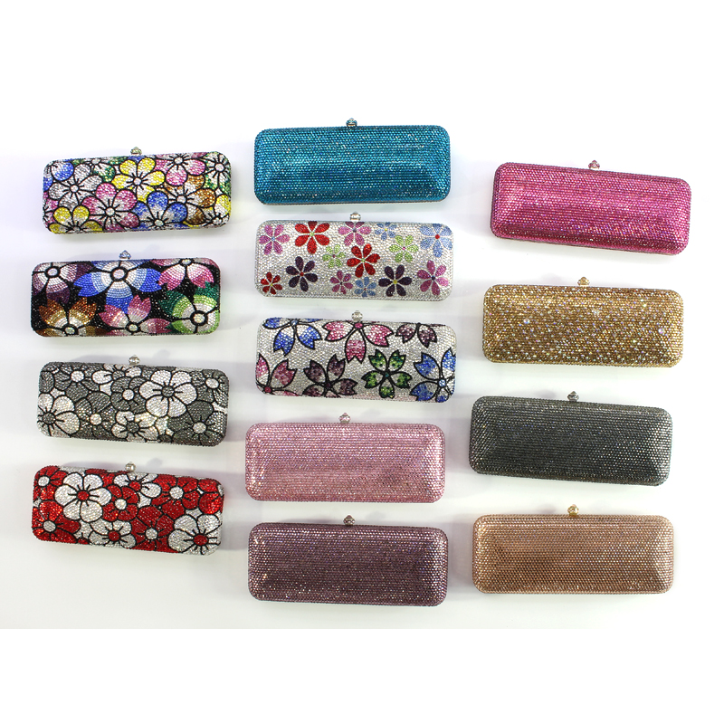 Women Evening Clutches Bags Party Purses Box Shaped Clutches Wedding Happiness Crystal Party Bag (1 (29)) party 0 1