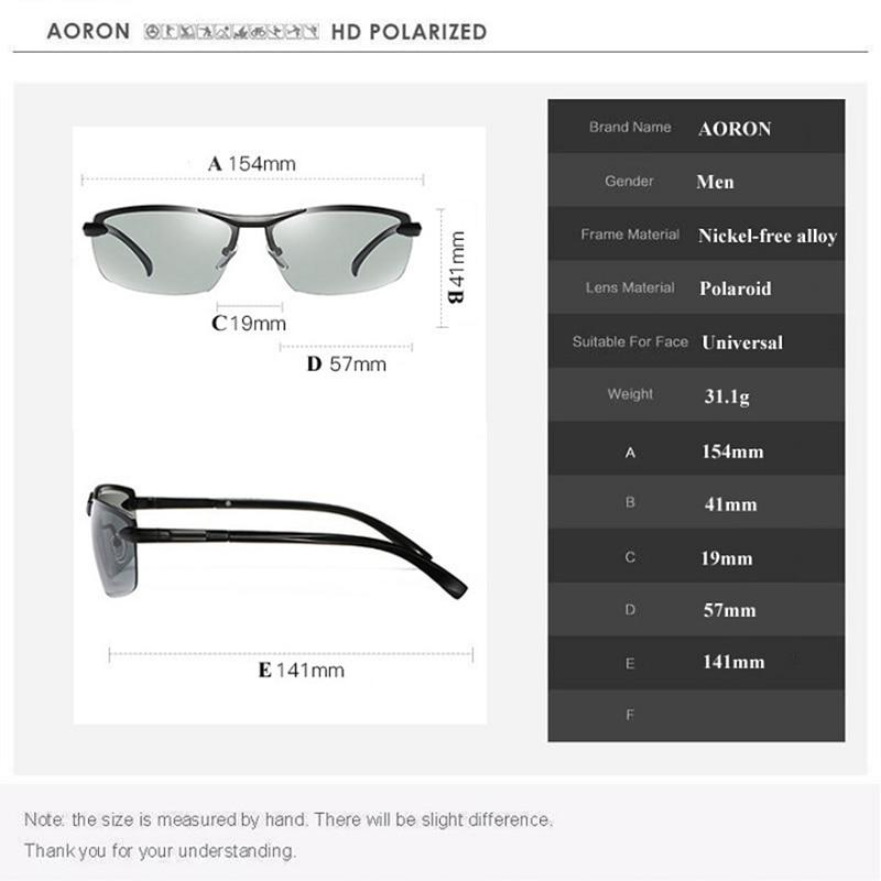 Gafas de sol polarizadas fotocromáticas AORON Hombres Decoloración - Accesorios para la ropa - foto 5