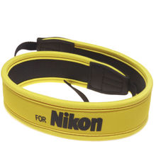 Новая Камера Полный Желтый Неопрена Шейный Ремень Пояс для Nikon D100 D300 D80 D90 D5100 D7000