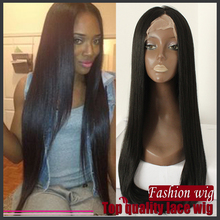 2016 NEW straight wigs #1B Black Synthetic Glueless full Lace Front Wig silk straight baby hair Heat Resistant Half Hair Wigs
