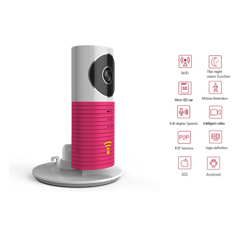 720P intelligent chien Home Security Wireless Caméra IP infrarouge IR vision de nuit appareil photo