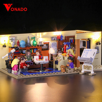LED light for lego 21302 Compatible 16024 Big Bang Theory Building Blocks Bricks Toys Gifts (only light with Battery box)