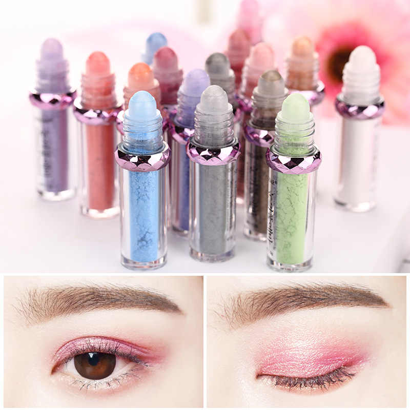 ELECOOL 3 Colors Crystal Glans Glitter Oogschaduw Poeder Monochrome Ogen Shimmer Warm Make Up Single Eye Pigment Make TSLM1