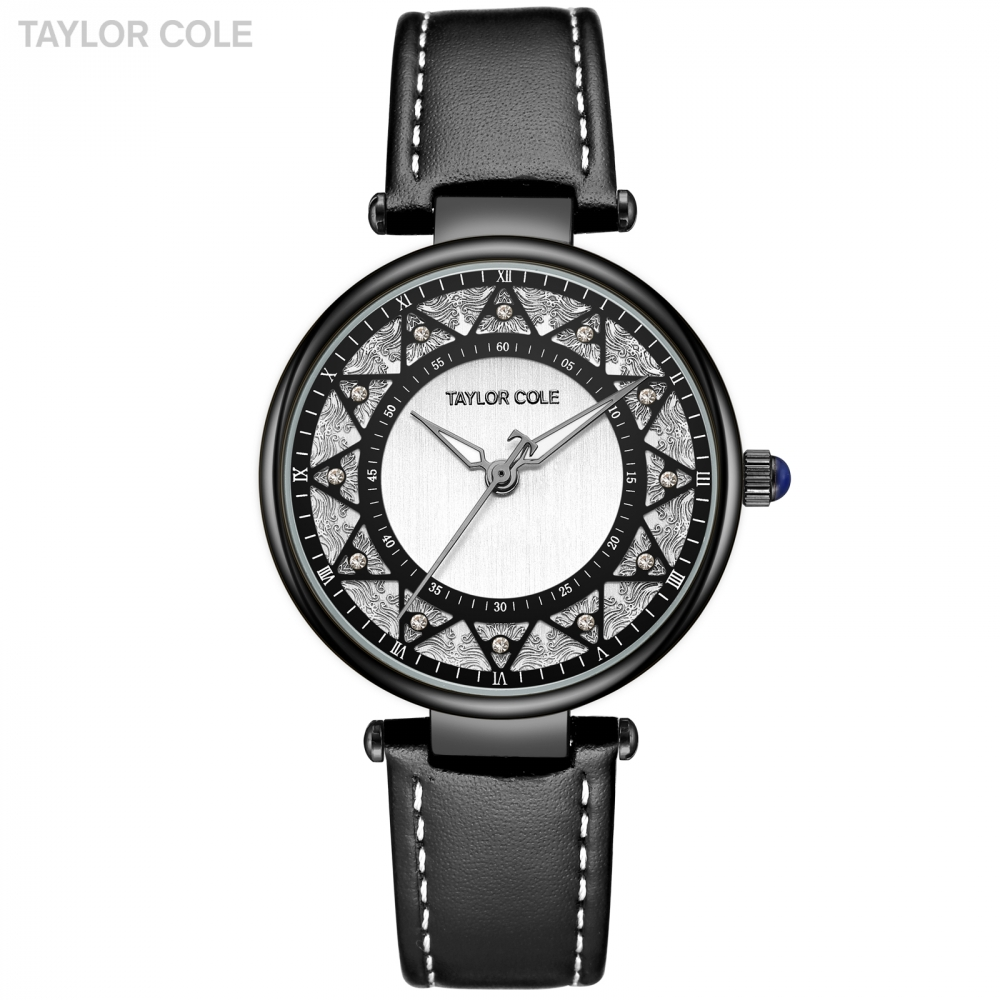 Taylor Cole Lady Quartz Watches Relojes Mujer Marcas Lujo Wrist Watches Full Black Watch with Watch Box Horloges Vrouwen /TC108 cole nussbaumer knaflic storytelling with data