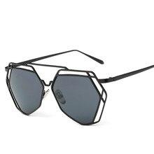 Cat Eye Sunglasses New Luxury Twin-Beams Alloys Brand Design 2227 Fashion Frame Women Glasses Geometry Ladies Mirror