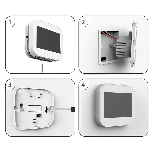 Wifi touch thermostat for water heating/radiator valve by English/German/Polish/Czech/Italian/Spainish control by smart phone Air Conditioners