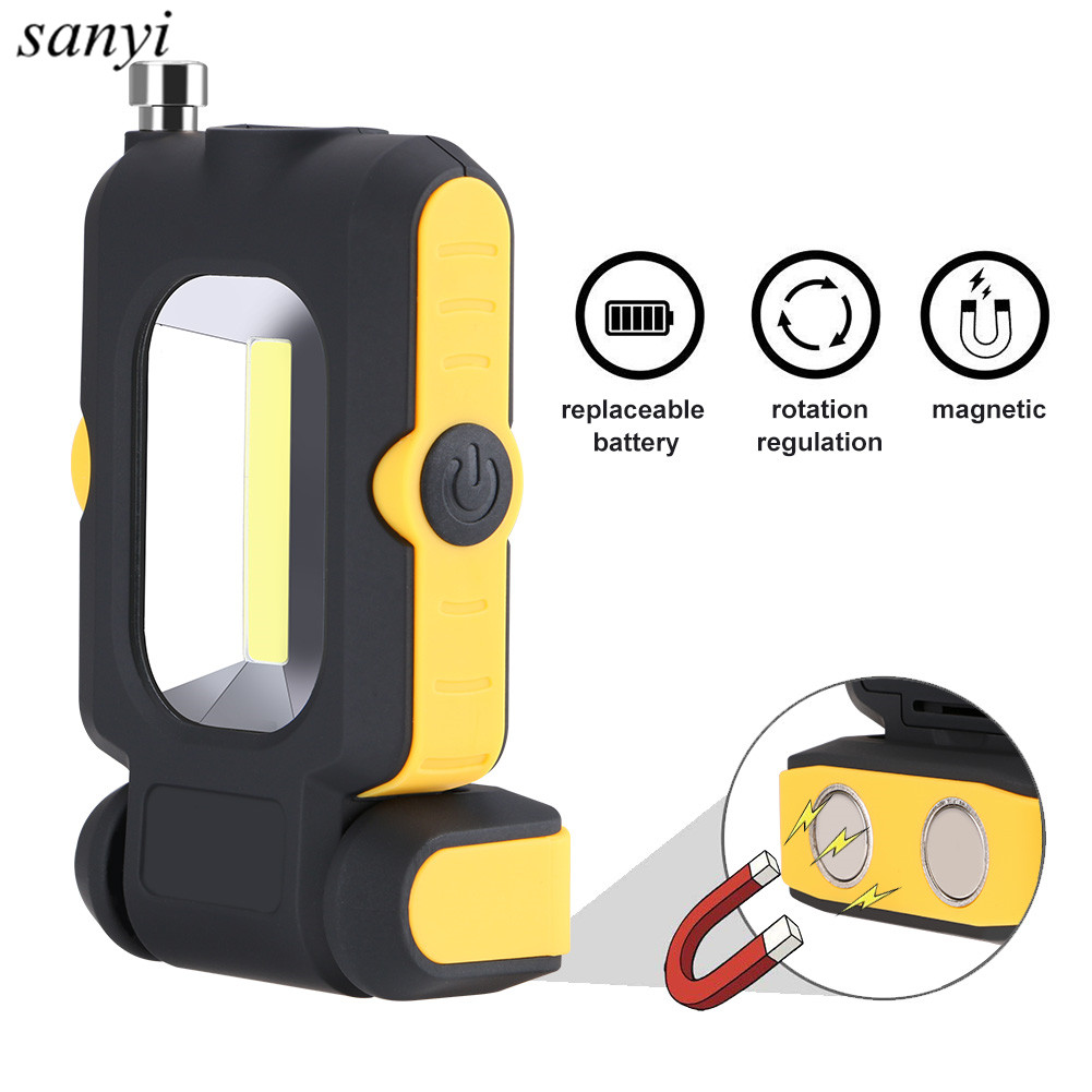 2018 New Multi-function COB LED Work Light Inspection Lamp Hand Torch Magnetic Camping Tent Lantern With Magnet