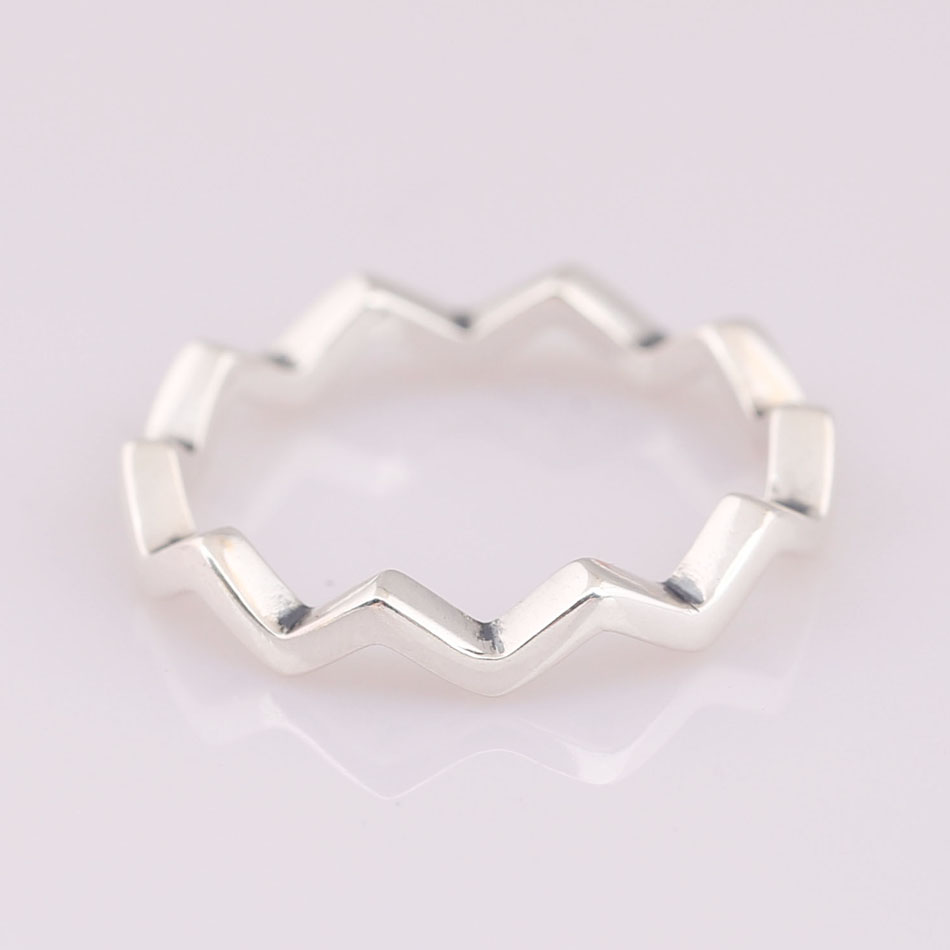 ea67579b2 Authentic 925 Sterling Silver Ring Timeless Zig Zag With Crystal Ring Sets  For Women Wedding Party Gift Fine Europe Jewelry-in Wedding Bands from  Jewelry ...