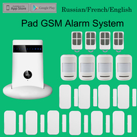 DIY Wireless GSM SIM Card Dial Alarm Safety Security System Russian French English Spanish Voice Optional