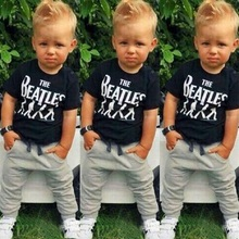 BCS177 Summer Kids Clothes Sets Short Sleeve Boy T-shirt Pants Suit Clothing Set Newborn Sport Suits Children Baby Boy Clothes(China)