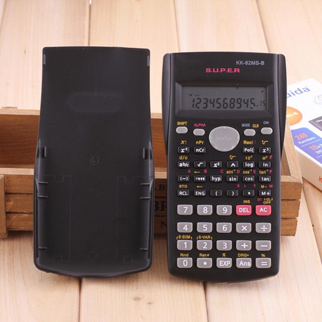 Tenuto in Mano Delle Studente Calcolatrice Scientifica 2 Linea di Display 82MS-B Portatile Multifunzionale Calcolatrice per L'insegnamento Della Matematica