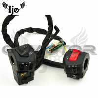 1 pair black scooter switches motorbike controller for honda suzuki yamaha harley unviersal brand moto switchmotorcycle control