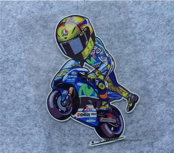 Pcs Moto GP Reflective Vinyl Decals Sticker Valentino Rossi Vr - Custom vinyl decals motorcycles