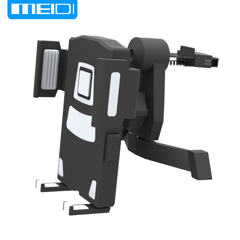 MEIDI Air Vent Car Phone Holder For iPhone5 6 7Plus SamsungS8+Mobile Phone Support Adjustable Air Vent Mount Holder Car Bracket baseus car air vent mount phone holder for phones under 5 5inch black