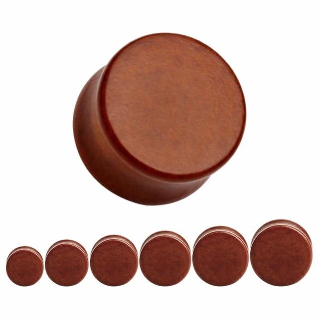 Купить двойные расклешенные коричневые простые беруши деревянные тонкие