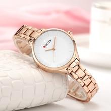 CURREN золотые часы женские часы 9015 из нержавеющей стали женские часы-браслет женские часы Relogio Feminino Montre Femme