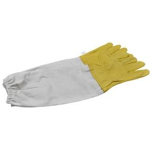 Image 4 - Перчатки для пчеловодства, защитные рукава, проветриваемые профессиональные перчатки из овчины и парусины для пчеловодства