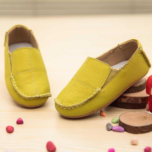 2016 Primavera Novas Crianças Sapatos De Couro Meninos Dos Miúdos Das Crianças Lazer Moda Calçado Meninas das Escolas de Educação Infantil Do Bebê Plana