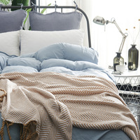 Junwell Cotton Throw Blanket Geometric Angled Lines Chevron Knitting Design Herringbone Stripes Nordic Large Blanket Deco Home