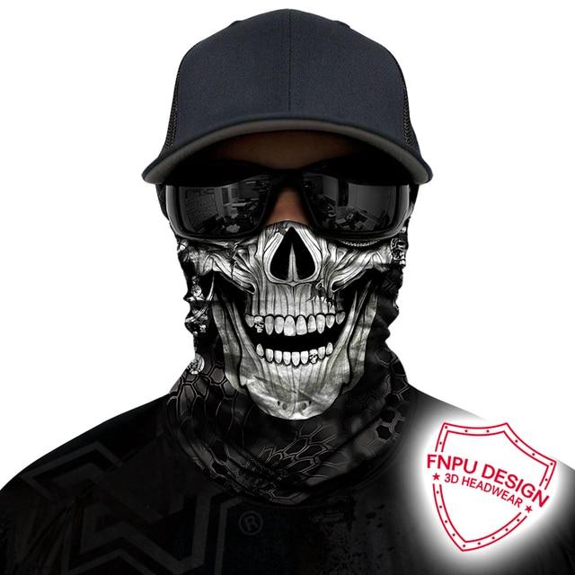BJMOTO Windproof Multicolor Magic Head Face Mask Neck Gaiter Snood Headwear Motorcycle Cycling Tube Scarf Men Women Headband