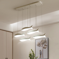 2018 LED DIY Pendant Lights For Living Room Hotel Lobby Hanging Lighting AC110 265V Fish Shape