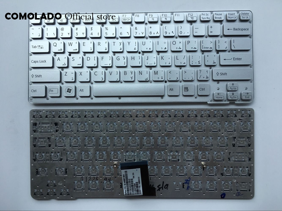 AR Arabic Laptop Keyboard For Sony VPC-CA VPCCA VPC CA Silver Without Frame Keyboard AR Layout