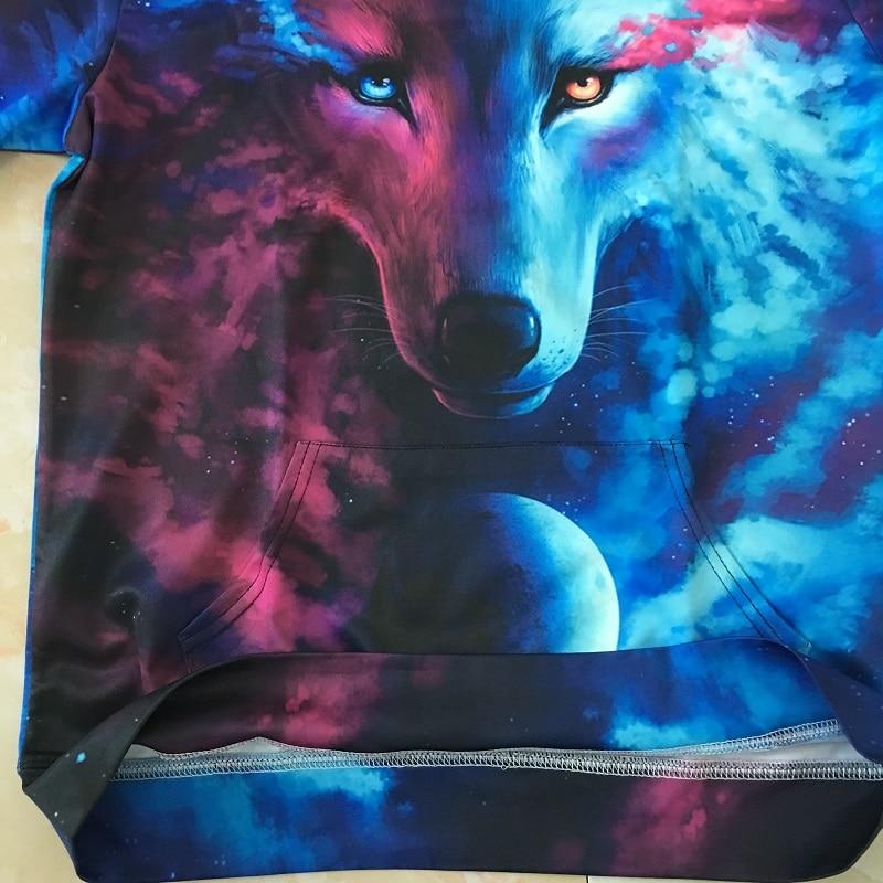 Wolf 3D Hoodies Where Light And Dark Meet stuff view