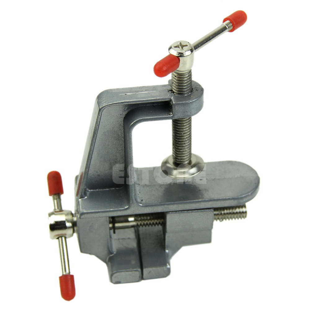 C18 2015 New 3.5 Aluminum Miniature Small Jewelers Hobby Clamp On Table Bench Vise Tool Vice image