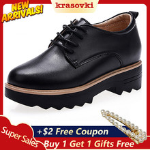 Krasovki Oxfords Shoes Women Spring Autumn Thick Bottom Fashion Breath