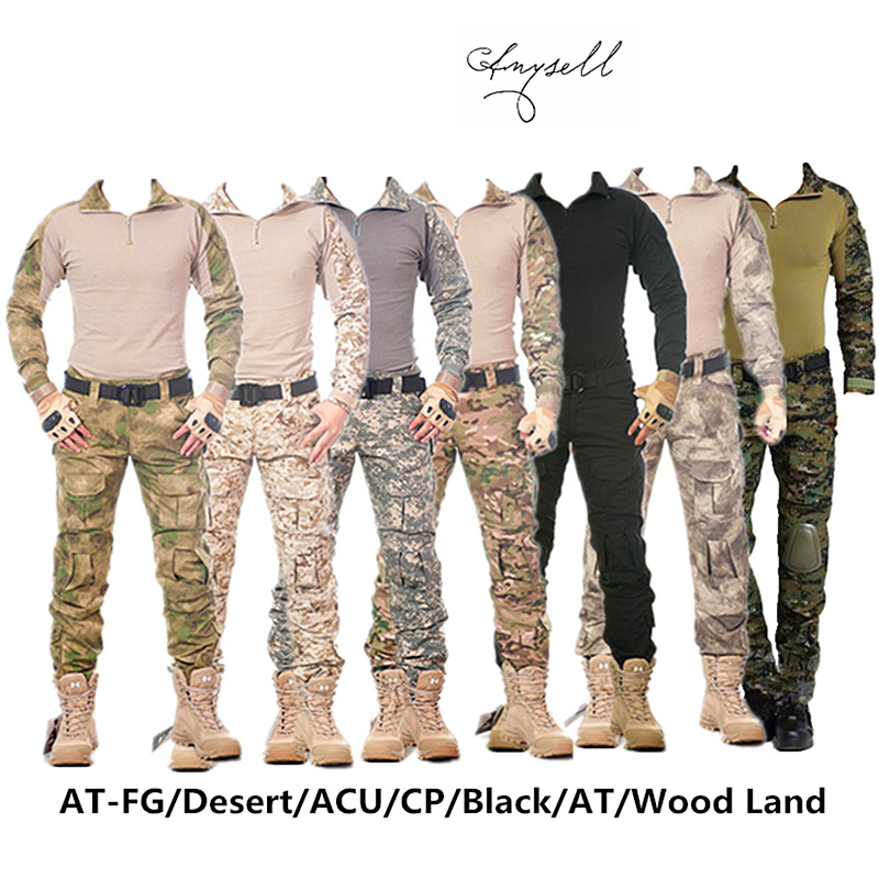 Image 5 - Camouflage tactical military clothing paintball army cargo pants 