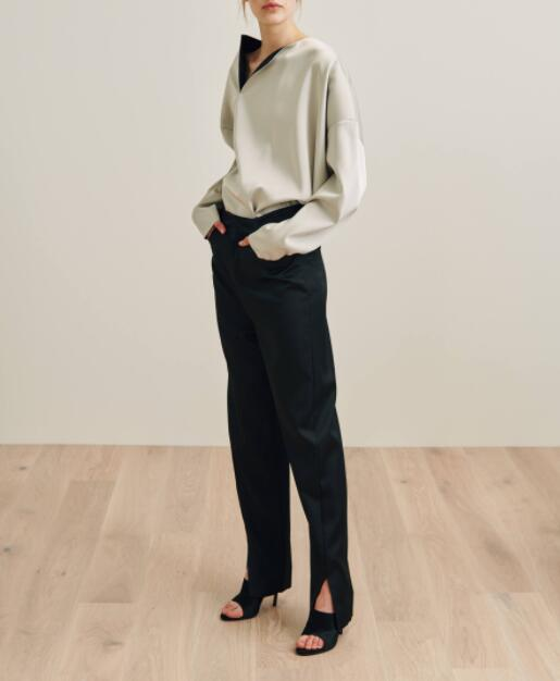 b676cb578c4 HIGH QUALITY Black Malta trousers dressed Pants slits Hem Fashion Woman  Special Design Trousers Bottom 2019SS