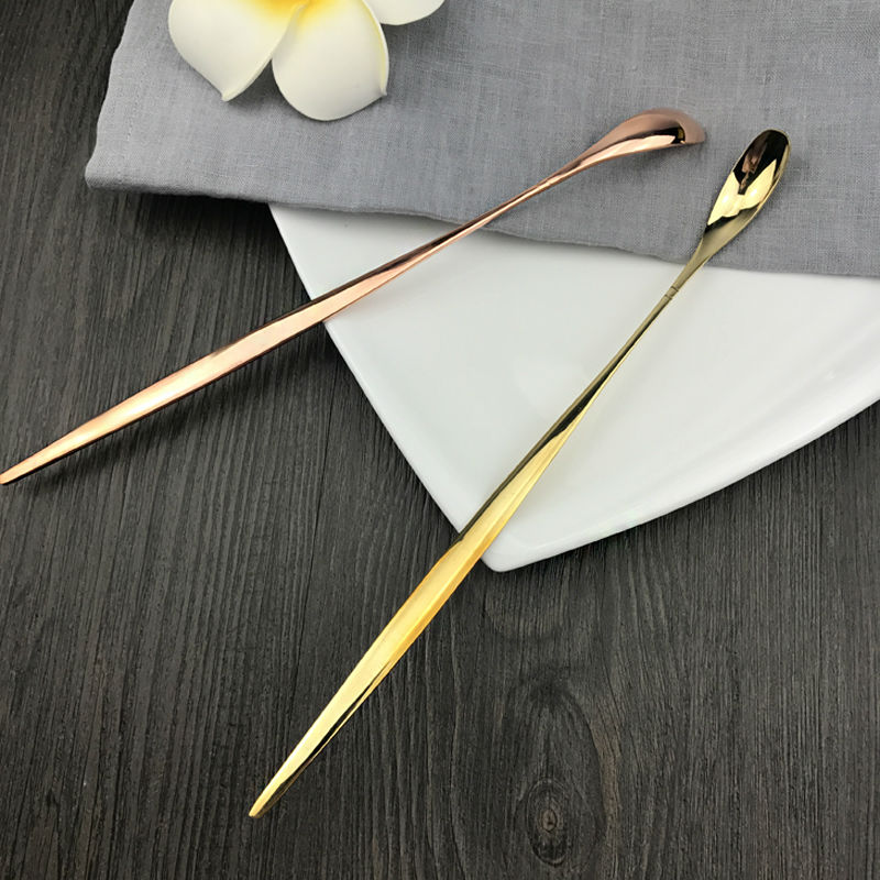 Pure copper honey spoon stiring mixing spoon long handle ...