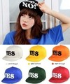 Free shipping YES &NO letter hiphop fashion cap brimmed hat baseball cap