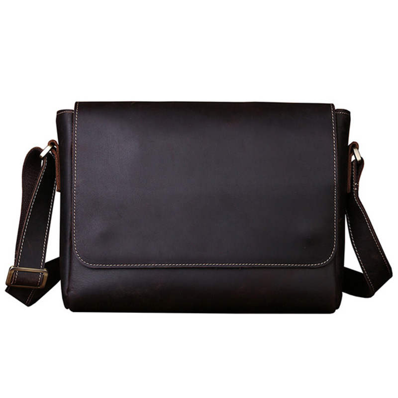 New Crazy Horse Leather Messenger Bag Men Genuine Leather Shoulder Bags Cross Body Bags Vintage Satchel new trend sale men s genuine leather business casual messenger shoulder bag tablet satchel cross body book bag black t0985