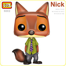 LOZ Figure Action Toys Fox POP Nick Children Funda Movie Anime Vinyl Figurines Nick Wilde Toys Kids Chibi Doll Cute Figure 5002