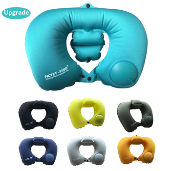 Neck Pillow Airplane Travel Kit Portable Pressing Type Automatic Inflatable Travel Pillow Neck Support Cushion Car U-Pillow massage inflatable neck pillow inflatable u shaped travel pillow car head neck rest air cushion for travel neck pillow