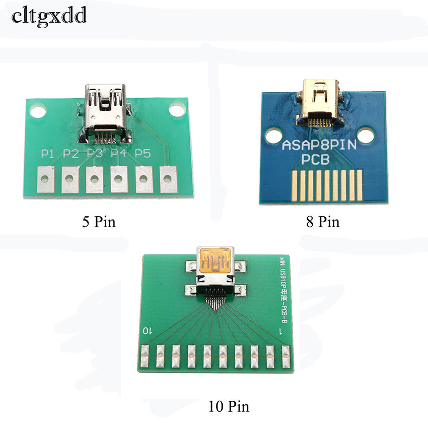 Cltgxdd 1PCS Mini USB 5Pin 8Pin 10PIN For Philips Female Socket Connector With PCB Board Test Board